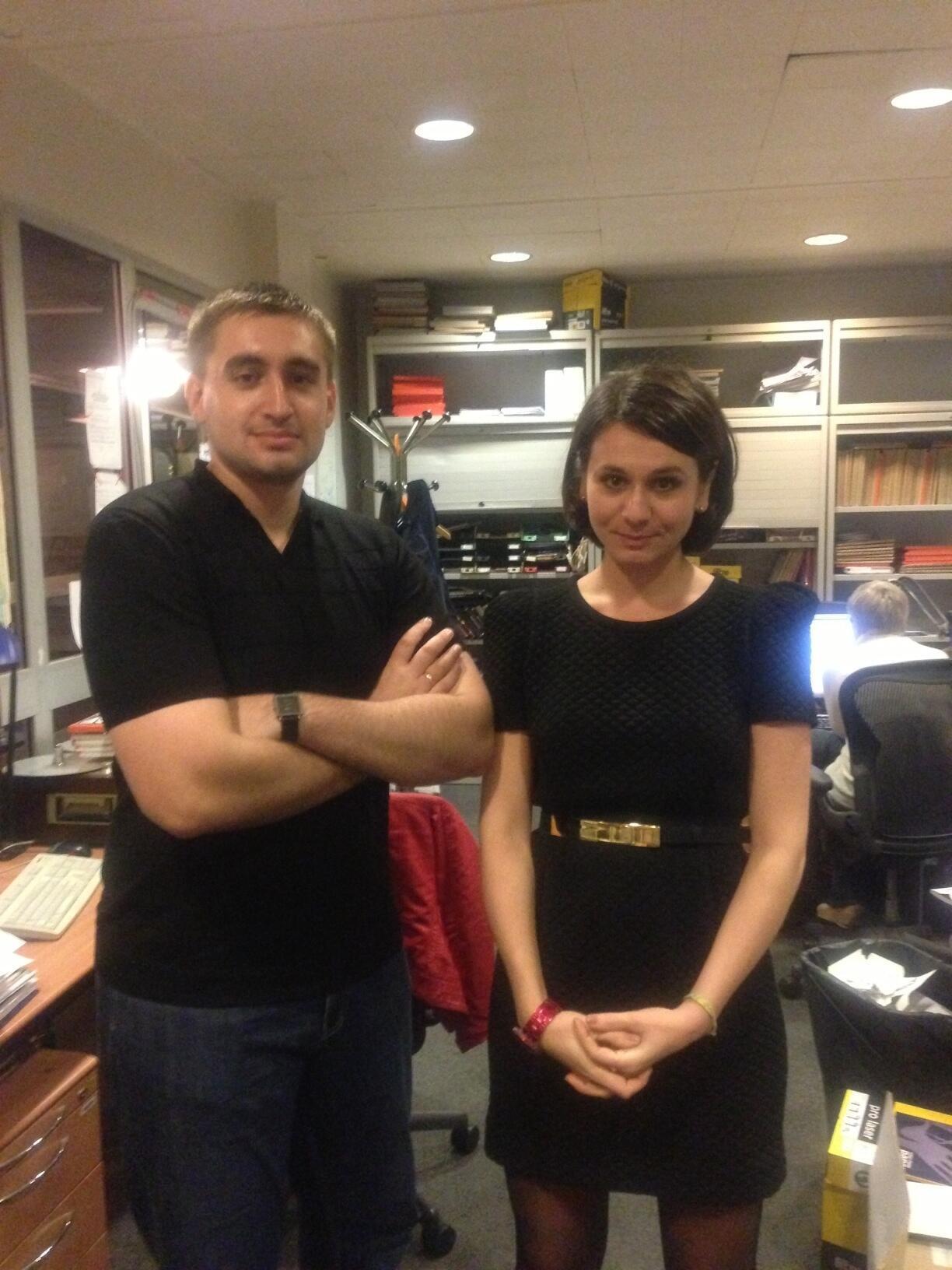 Сергей Бабинец, Сводная мобильная группа и Елена Серветтаз (RFI), Париж 8 октября 2012
