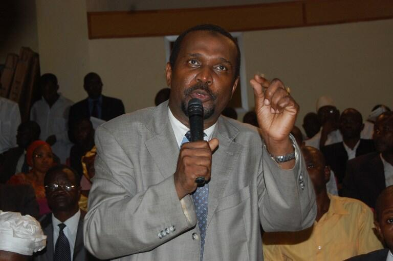 L'ex-ministre Aboubacar Sylla, porte-parole de l'ADP, un collectif de partis d'opposition, en août 2012.