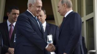 Беньямин Нетаньяху и Владимир Путин в Сочи. 23 августа 2017 г.