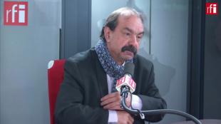 Philippe Martinez sur RFI le 7 février 2020.