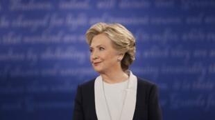 Hillary Clinton el 9 de octubre del 2016.