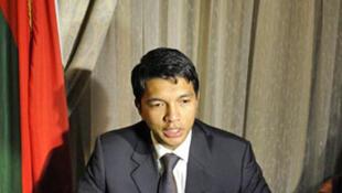 Andry Rajoelina lors des pourparlers de Pretoria, en Afrique du Sud, le 29 avril 2010.