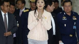 泰國總理英拉領導的政府宣布1月22日起實施緊急狀態法