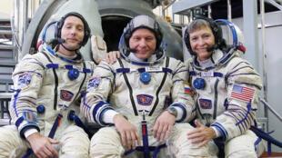 Estação Espacial recebe três astronautas