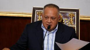 El presidente de la Asamblea Constituyente, Diosdado Cabello, el 8 de enero de 2019 en Caracas.