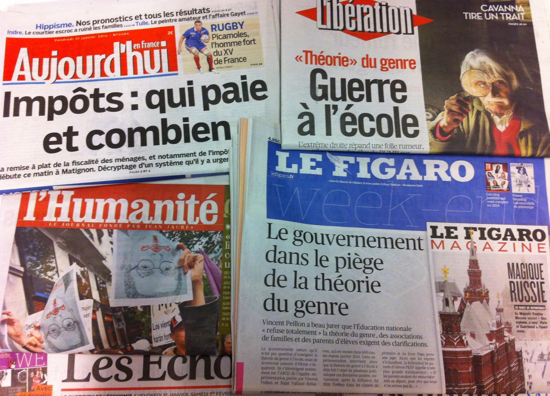 Primeiras páginas dos diários franceses - 31/01/2014