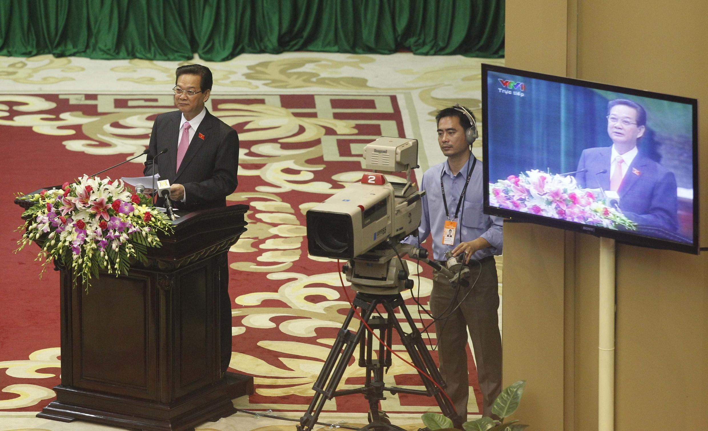 Thủ tướng Việt Nam Nguyễn Tấn Dũng phát biểu trước Quốc hội, 22/10/2012