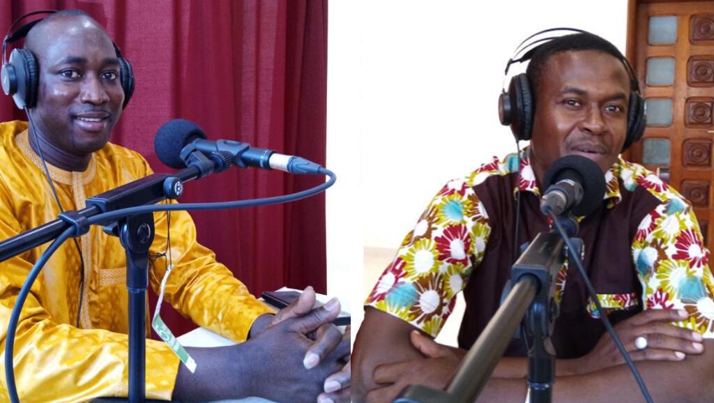 De gauche à droite : Mamadou Hadji Cissé, le maire de Kédougou et Moussa Seydou Diallo.