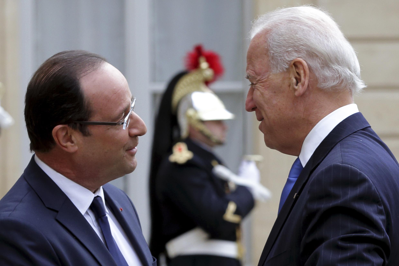 Встреча Франсуа Олланда и Джо Байдена в Елисейском дворце 04/01/2013