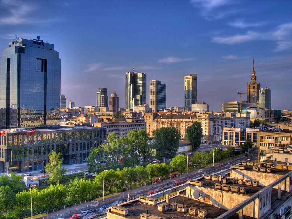 Une vue de Varsovie, capitale de la Pologne.