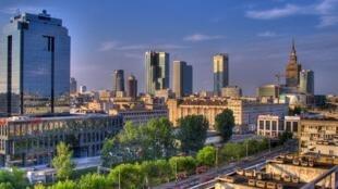 Une vue de Varsovie, la capitale de la Pologne.