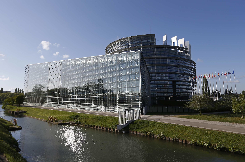 Здание Европарламента в Страсбурге 15 апреля 2014.