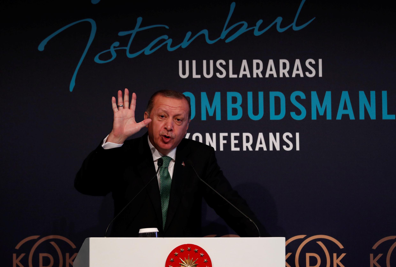 Le président turc Recep Tayyip Erdogan s'est déjà exprimé sur le référendum d'indépendance du Kurdistan irakien, à Istanbul, lundi 25 septembre 2017 (image d'archives).
