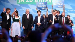 Buổi vận động tranh cử của đảng CSU ngày 12/10/2018 tại Munich ngày 12/10/2018.