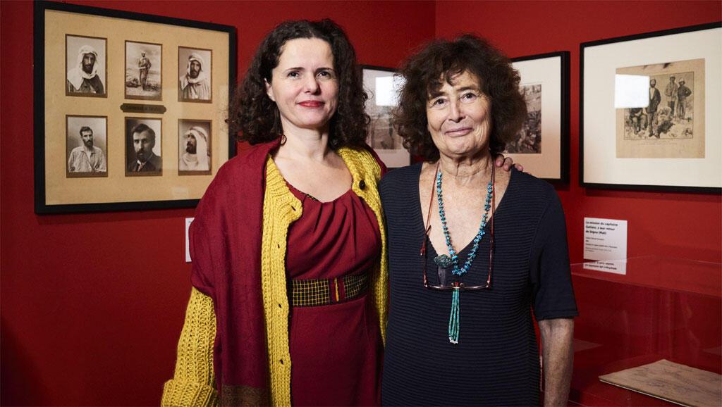Gaëlle Beaujean et Catherine Coquery-Vidrovitch au vernissage de l'Afrique des routes.