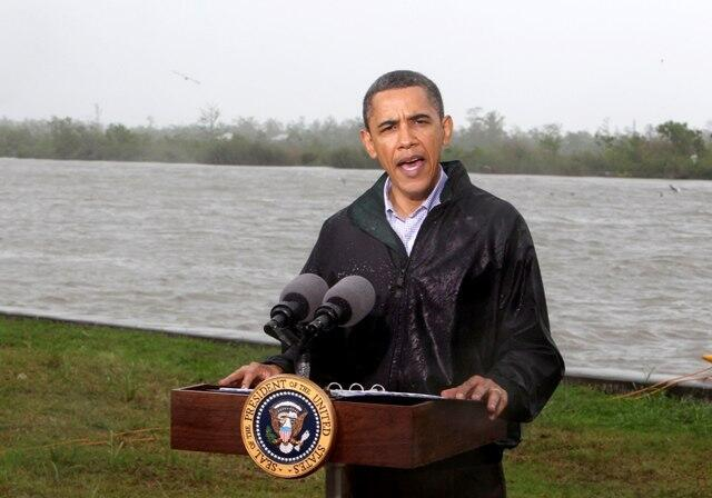 O presidente norte-americano Barack Obama faz discurso depois de visitar o Golfo do México.