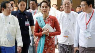 Aung San Suu Kyi veut faire revenir les investisseurs en Birmanie, photo prise à Naypidaw, le 28 janvier 2019.
