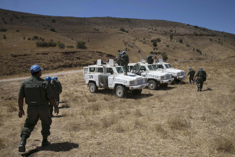 Região de conflito entre Israel e Síria.
