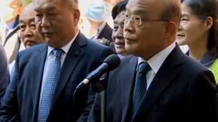 台湾行政院院长苏贞昌资料图片