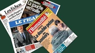 Capa de jornais franceses desta quarta-feira,(28)