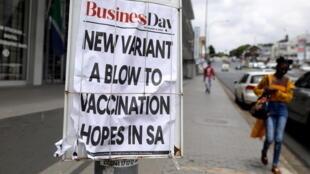 Afrique du Sud - Johannesbourg - coronavirus