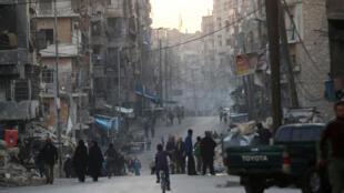 """شهر """" الباب""""  در شمال شرق حلب یک پایگاه مهم داعش بشمار می رود."""