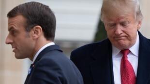 Эмманюэль Макрон и Дональд Трамп 11 ноября 2018 в Париже.