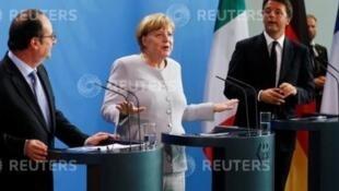 Renzi, Merkel e Hollande debatem futuro da UE