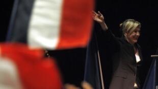 Marine Le Pen líder del partido de ultra derecha Frente Nacional