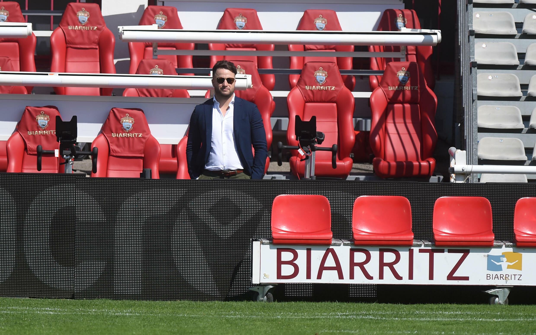 Le président du directoire du Biarritz Olympique Jean-Baptiste Aldigé, le 4 septembre 2021 au stade Aguiléra