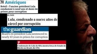 Lula foi condenado a nove anos e seis meses de prisão por corrupção passiva e lavagem de dinheiro pelo juiz Sérgio Moro.