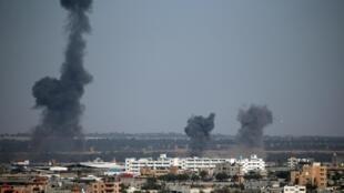 以色列對加沙地帶進行空中打擊