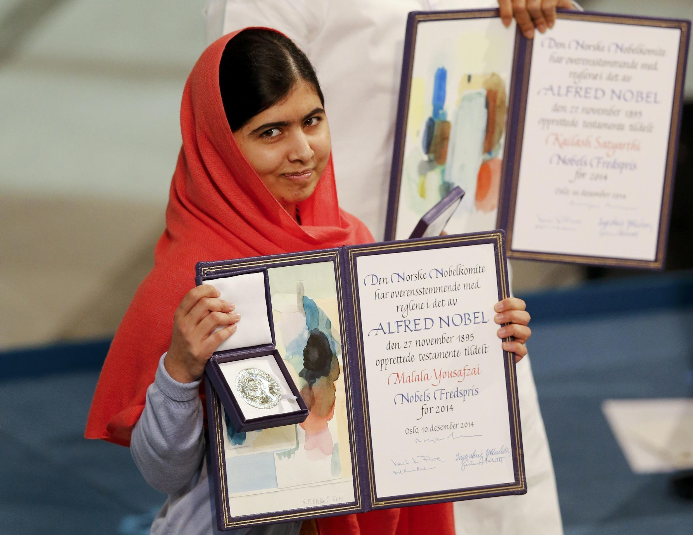 A paquistanesa Malala Yousafzai e o indiano Kailash Satyarthi, receberam hoje em Oslo o prémio Nobel da Paz.