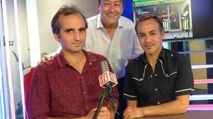 Pablo Gignoli y Sebastán Galeota con Jordi Batallé