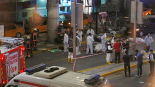 Turkish forensic experts work outside Istanbul Ataturk airport