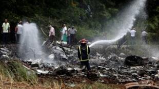 一架載有超過百人客機在古巴機場墜毀。2018-05-18