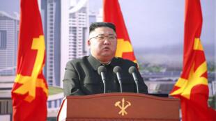 Lãnh tụ Bắc Triều Tiên, Kim Jong Un, trong một sự kiện tại Bình Nhưỡng hôm 23/03/2021.