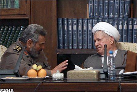 هاشمی رفسنجانی و فیروزآبادی در مجمع تشخیص مصلحت نظام