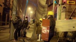 Nouvelle nuit de violence dans les rues de La Paz, jeudi soir 7 novembre.