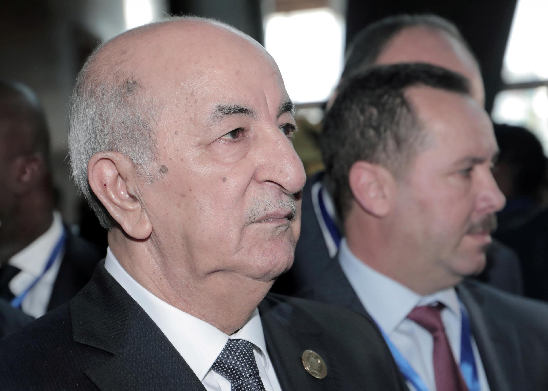 File photo of Algerian President Abdelmadjid Tebboune, 9 February, 2020 in Addis Abeba, Ethiopia.