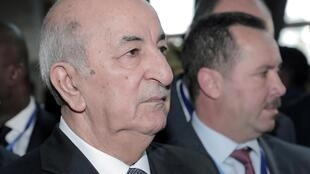 File photo of Algerian President Abdelmadjid Tebboune, 9 February, 2020 in Addis Abeba, Ethiopia.