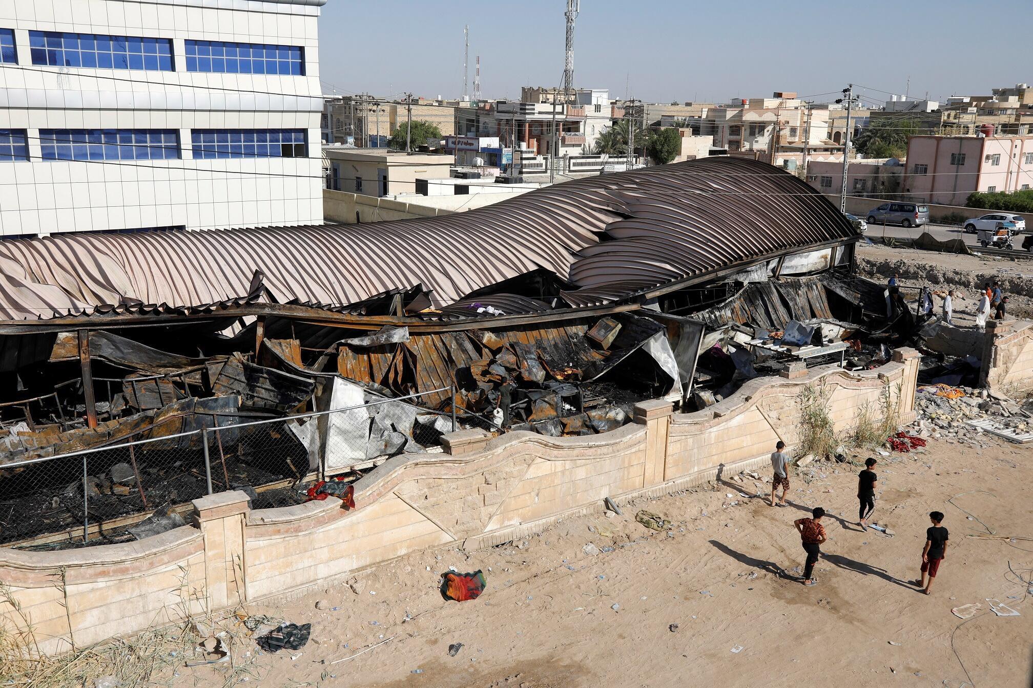 Irak Hôpital Feu