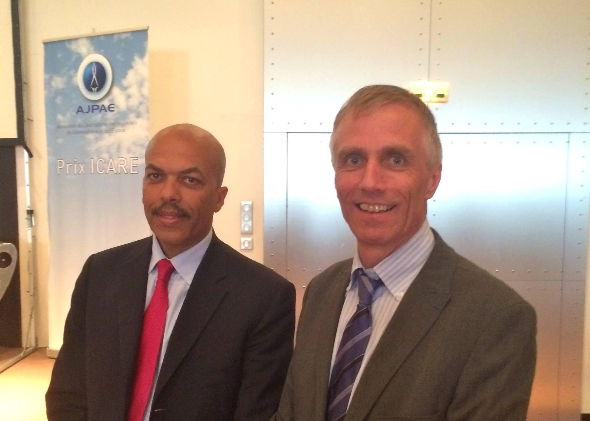 Инженеры Жан-Поль Эбанга и Брюно Гимбаль -обладатели, соответственно, премии Icare International 2014 и Icare 2014