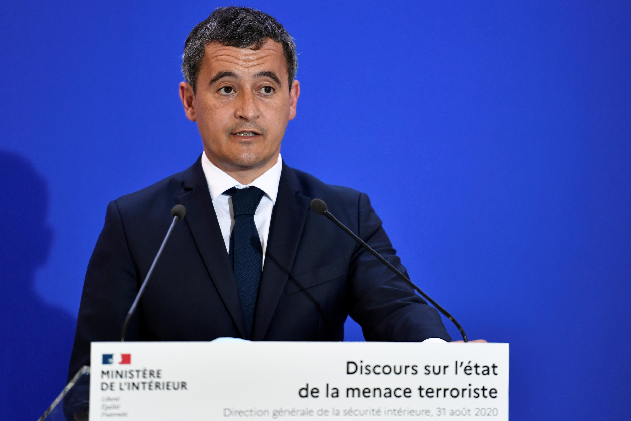 French Interior Minister Gerald Darmanin in Paris, France August 31, 2020