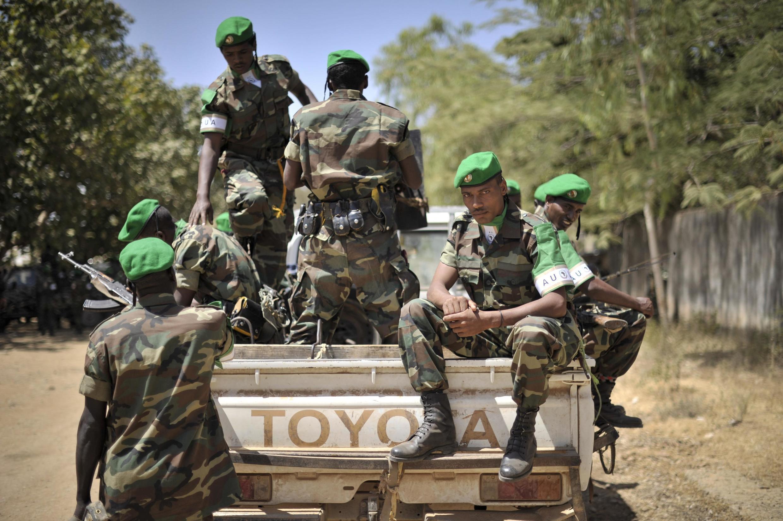 Des soldats ethiopiens qui ont intégré la force de l'Union africaine en Somalie, avant leur départ pour Baidoa, le 22 janvier dernier.