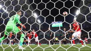 Lors du quart de finale de Coupe du monde 2018, Russie-Croatie.