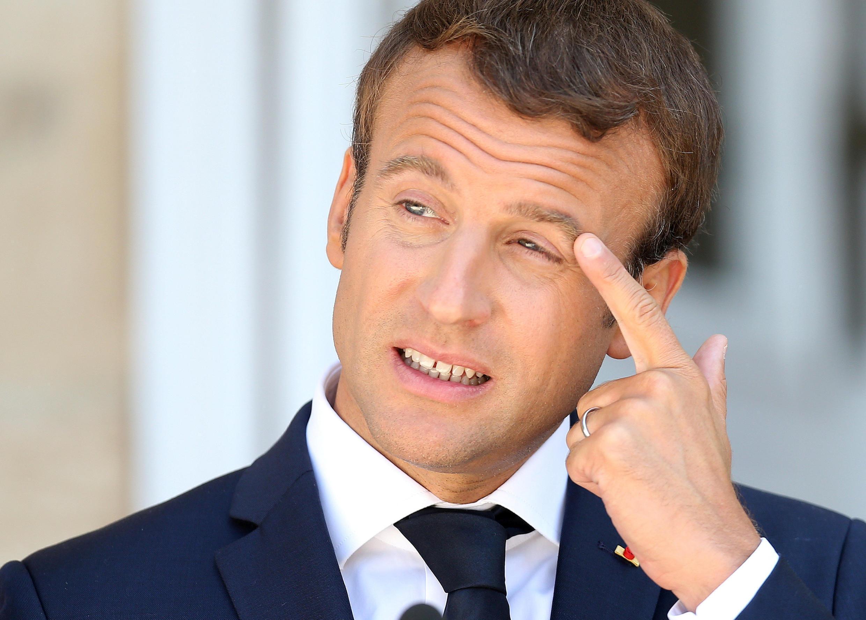 O  Presidente  da França,Emmanuel Macron. 26 de Agosto de  2017