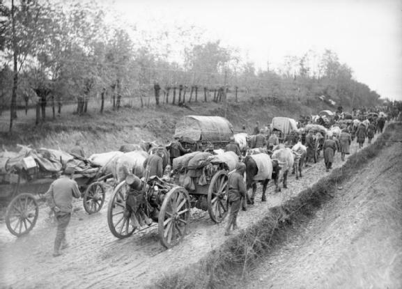 L'armée serbe durant la retraite d'Albanie, en 1915.