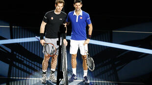 Murray and Djokovic before the final