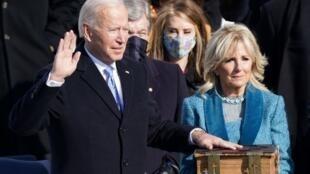 2021年1月20日,民主党人拜登宣誓就职,成为第46位美国总统。